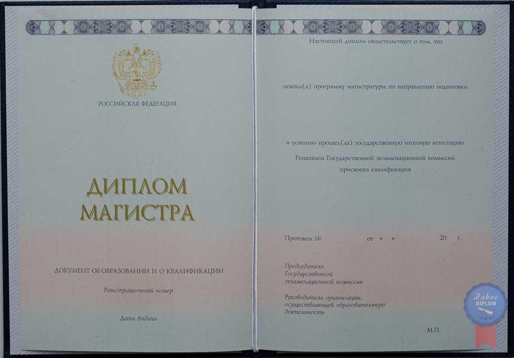 Диплом магистра 2014 — 2019 год