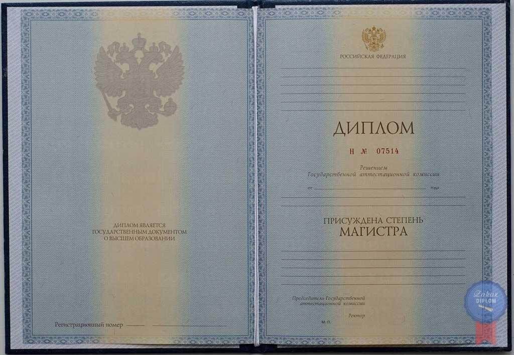 Диплом магистра 2010 — 2013 год